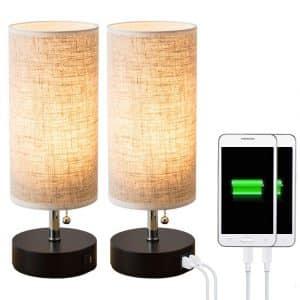 Lifeholder Dual USB Table lamp