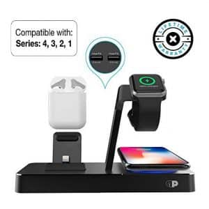 Press Play ONE Dock Power Station Dock for Apple Watch and iPhone – Black