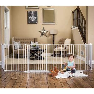 Regalo Super Wide Baby Gate with 4 Pack Wall Mounts