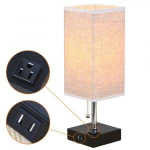 ZEEFO Dual 2.1A USB Table Lamps