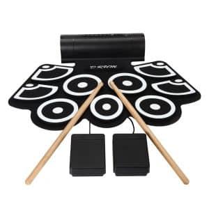 Aufitker Electronic MIDI Drum w/ Built in Speakers