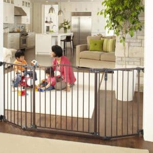 "North States 72"" Deluxe Baby Gate, Bronze"