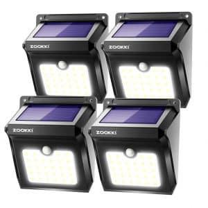 Solar Motion Sensor ZOOKKI 28 LEDs Waterproof Lights