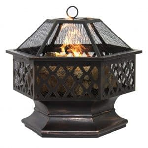 24in Hex Shaped Fire Pit