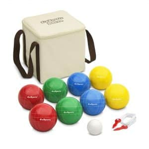 GoSports 90mm Bocce Set with Measuring Rope