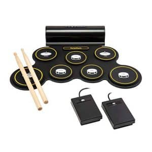 Ivation Electronic Drum Pad with 2 Foot Pedals