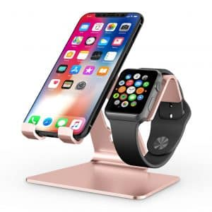 OMOTON 2 in 1 Universal Apple Watch Stand Holder for iPhone