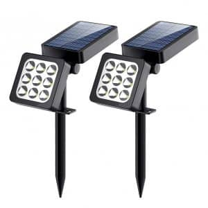 Solar Lights, 2-in-1 Waterproof Outdoor Solar Spotlight