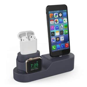 AhaStyle Silicone Stand Holder 3 in 1 Charging Dock (Navy Blue)