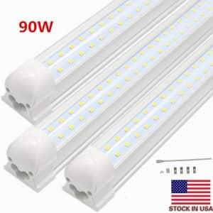 BSK.BESTKA LED Tube Light, Plug & Play with White 6000K Cover -10pcs
