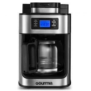 Gourmia GCM4700 Coffee Maker with Built-in Grinder
