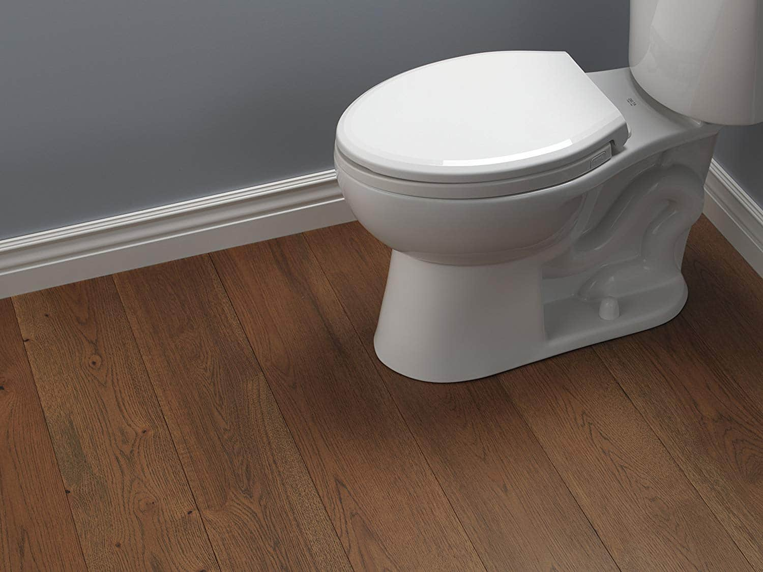 Soft /& Comfy Cushioned Toilet Seat Replacement w// Wood Core for Elongated Bowls