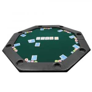 Trademark Octagon Padded Poker Tabletop GreenPoker Layout