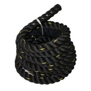 "ZENY Black Poly Dacron 1.5""/ 2"" Diameter Battle Rope Workout Training Rope"