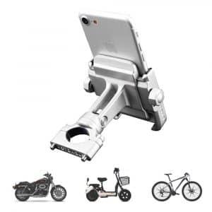 Adjustable Anti Shake Metal Bike Phone Holder for iPhone