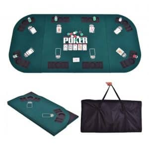Giantex Folding Poker Table Top Portable for 8 Casino Player Foldable