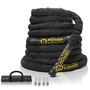 POWER GUIDANCE 1.5 inches Width Battle Rope for Workout Fitness