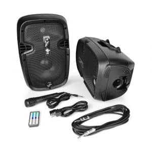 Pyle 2 Powered PA Active Loudspeaker with USB for MP3 Amplifier