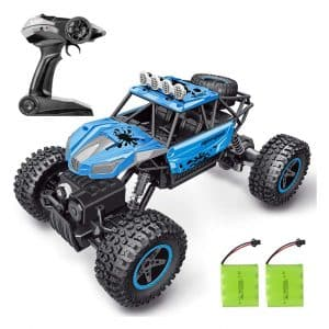 SHARKOOL RC Car 2.4 GHz 4WD Two Rechargeable Batteries