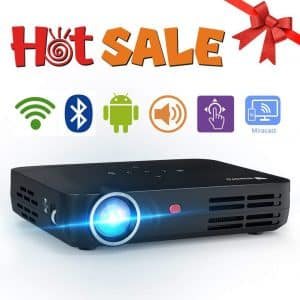 WOWOTO H8 Mini Projector 3500 Lumens for Entertainment and Business
