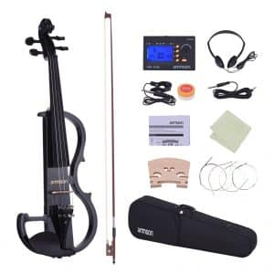 Ammoon Full-Size Electric Silent Violin