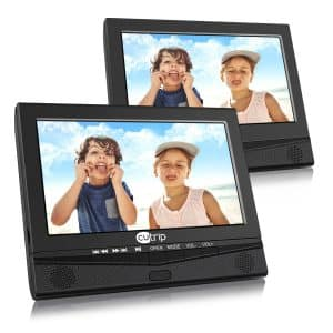 CUTRIP-10.1 inches Portable Dual Screen DVD Player with Mount Holder