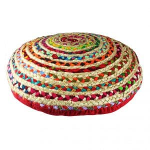 Cotton Craft – Jute & Cotton Floor Pillow