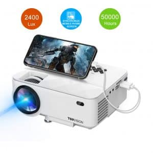 T TOPVISION 2400Lux Mini Projector Supported 1080P