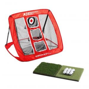 Rukket Golf Chipping Net, Turf Hitting Mat & Adjustable Rubber Tee