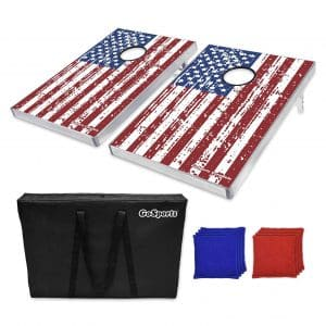GoSports American Flag CornHole Bean Bag Toss Game Set