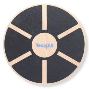 Yes4All Wooden Balance Board – 15.75-inch Diameter