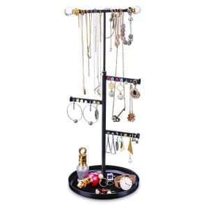 Keebofly Jewelry Tree Stand Organizer