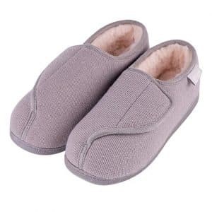 LongBay Women's Furry Memory Foam House Shoes