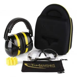 TRADESMART Shooting Ear Muffs - UV400 Anti Fog with Microfiber Pouch