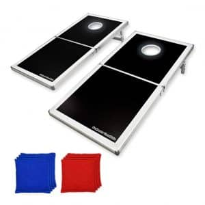 GoSports Led Light up Cornhole Set, Regulation Size