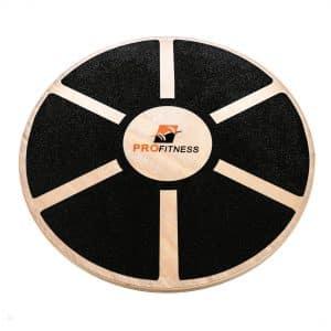 ProFitness Wooden Balance Board - Non-Slip Safety Top