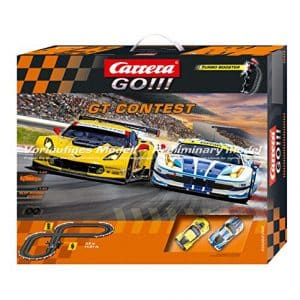 Carrera GO!!! GT Contest Ferrari and Chevrolet Corvette Slot Car Race Track Set