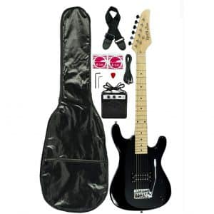 Directly Cheap Black Junior Kids Mini 3/4 Electric Guitar