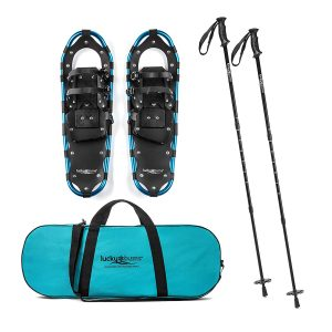 Lucky Bums Adult and Youth Snowshoes with Trekking Poles