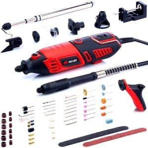 NoCry Professional Heavy Duty 1.4A Electric Motor Rotary Tool Kit