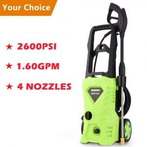 Luckdeal 2600 PSI Electric Pressure Washer with Power Hose