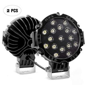 Nilight Black Off-Road Round Spot Light