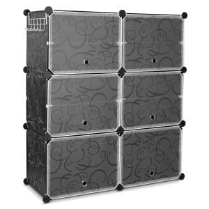 HOMFA 10 Cube Plastic Cabinet for Entryway or Living Room