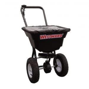 WestWard 80 lb. Capacity Broadcast Spreader