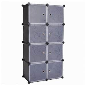 C&AHOME Storage Organizer with White Doors