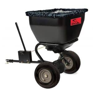 Brinly BS36BH 175 lb Black Tow-Behind Broadcast Spreader </p srcset=