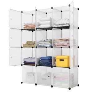 KOUSI Portable Storage Organizer, Transparent White