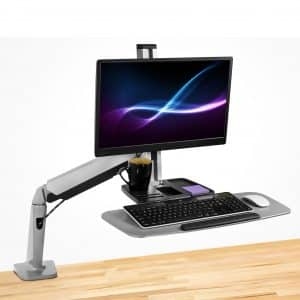 Sit Stand Workstation for Single Monitor and Keyboard