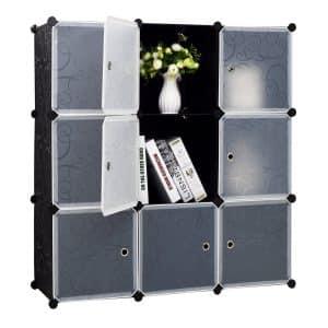 BASTUO 9-Cube Plastic Storage Organizer