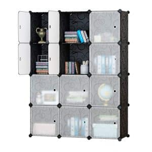 Honey Home Plastic Storage Cube for Bedroom or Office